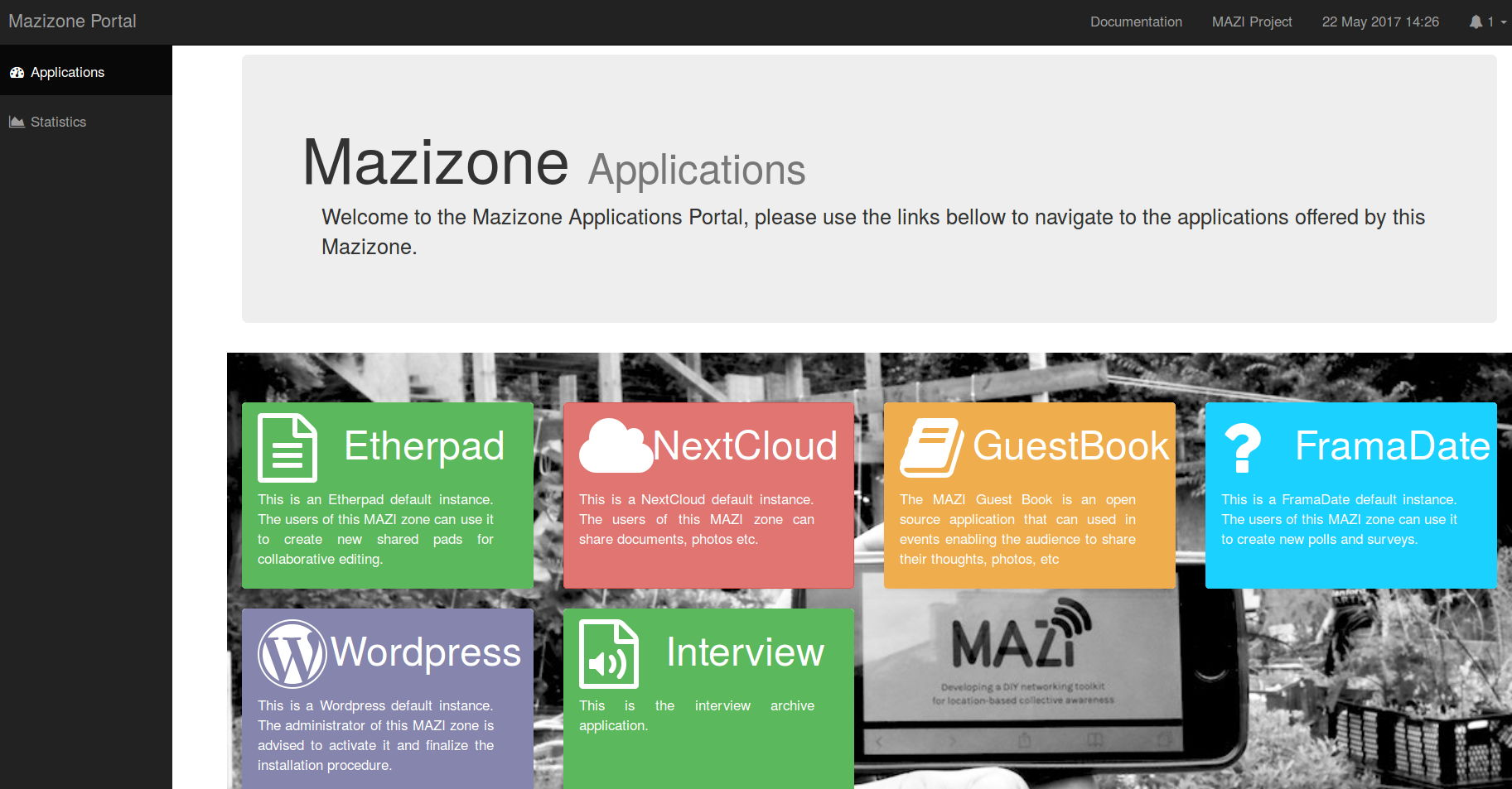 Mazi Toolkit applications
