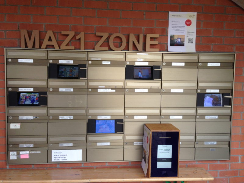A MAZI zone with the Hybrid Letterbox at Kraftwerk1's Heizenholz