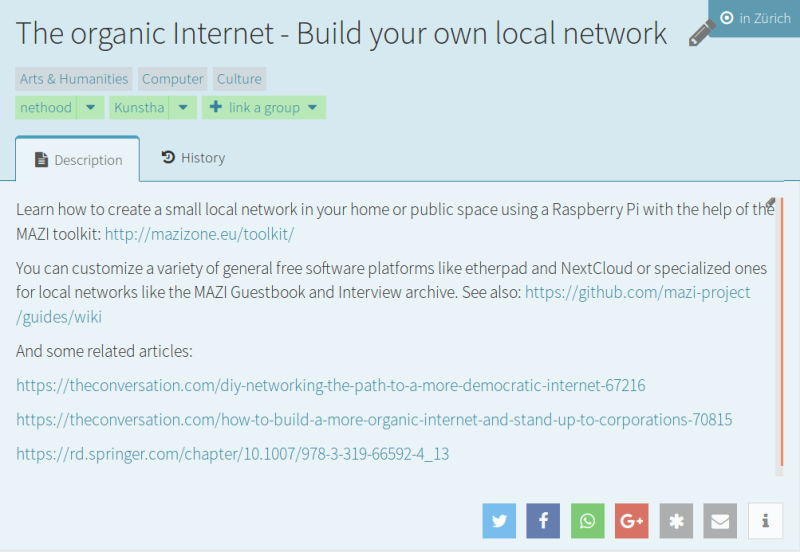 An Openki course on the organic Internet
